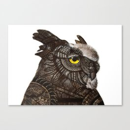Owl - Armoured Canvas Print