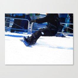 Snowboarder Skidding Winter Sports Gift Canvas Print