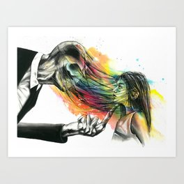 Slenderman stealing souls Art Print