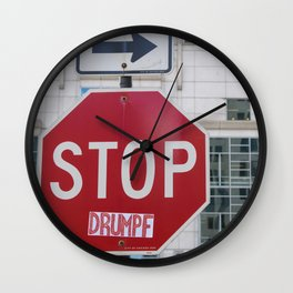 Stop #Drumpf Wall Clock