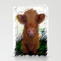 cow Stationery Cards featuring cow by Vector Art