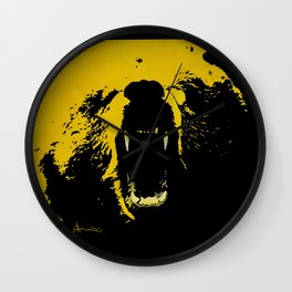 """TygerB.com """"Heated Grizzle"""" Painting Wall Clock"""