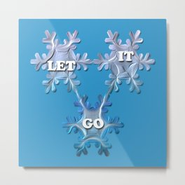 Let it Go  / Inspired by Frozen Metal Print