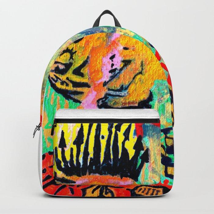 painting selfportrait selfie Backpack