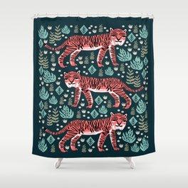 Safari Tiger by Andrea Lauren  Shower Curtain