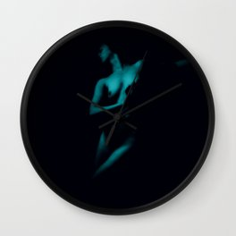 Vintage Nude : Teal Wall Clock