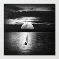 the moon Canvas Prints featuring Moon by haroulita