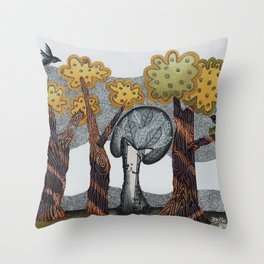 Autumnal Grove Throw Pillow