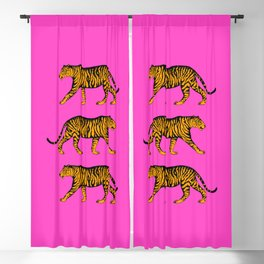 Tigers (Magenta and Marigold) Blackout Curtain