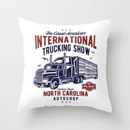 American International Trucking Show Throw Pillow