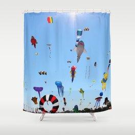 Kites over Lake Michigan Shower Curtain