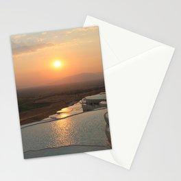 The white pools of Pamukkale, Turkey Stationery Cards