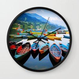 Peacefull Lake Wall Clock