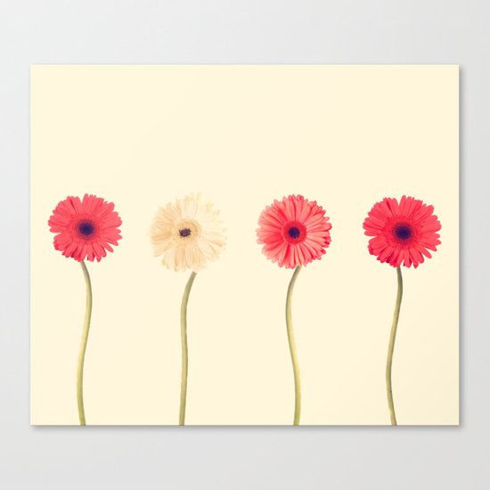 Technicolour Flowers  Canvas Print