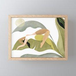 Banana palm Framed Mini Art Print