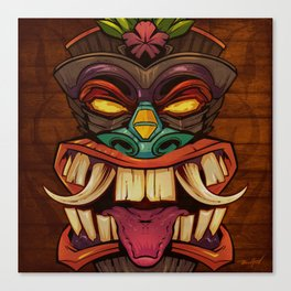 Tiki Head Style 2  Canvas Print