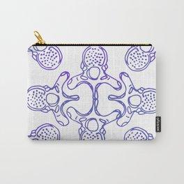 Mandala Vertebrae in periwinkle pattern Carry-All Pouch