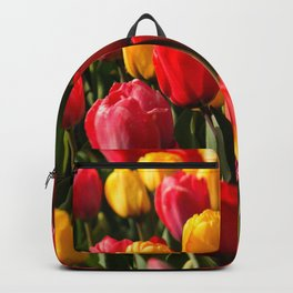 Peace, Love And Tulips Backpack