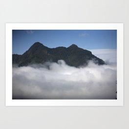 Cloudy Mountain Art Print