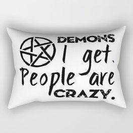 Demons I get Rectangular Pillow