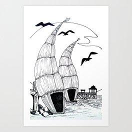 Huanchaco Beach Art Print
