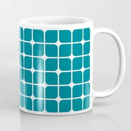 Modern Cubes - Teal Coffee Mug