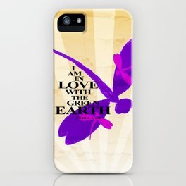 Dragonflies Green Earth Love iPhone Case