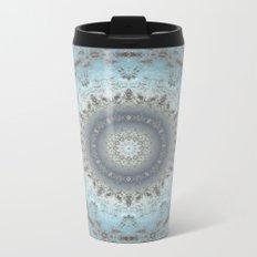 Gray blue kaleidoscope Metal Travel Mug