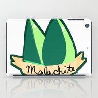 malachite iPad Cases featuring Malachite by El Jones