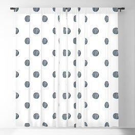 Hand Drawn Polka Dots Pattern Blackout Curtain