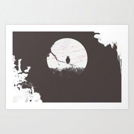 OWL ON THE TREE- BUBO² Art Print