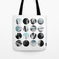 poetry Tote Bags featuring Circle Poetry / 1 by Elisabeth Fredriksson