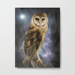 Wise Old Owl - Image Art Metal Print
