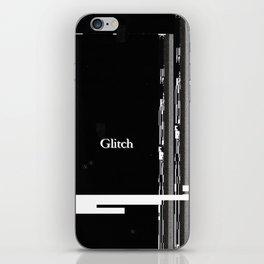 Glitch Poster Art Typography iPhone Skin