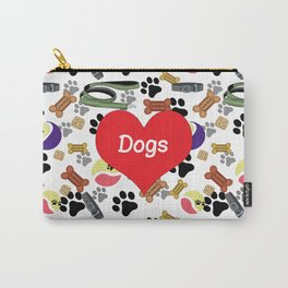Doggie Play and Treat Pattern Carry-All Pouch