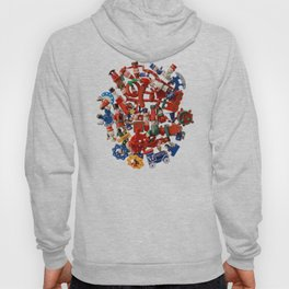 Lot of multicolored Christmas decorations Hoody