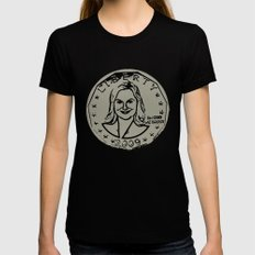 Leslie Knope  |  Susan B. Anthony Coin  |  Parks and Recreation Black Womens Fitted Tee LARGE