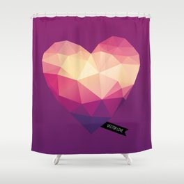 Vector Love 01 Shower Curtain