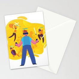 Virtual Friends Games Stationery Cards