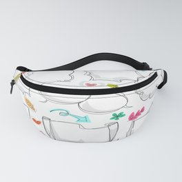 set chalk out chitchat scribble Fanny Pack