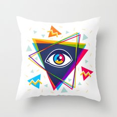 Pyramid with eye Throw Pillow