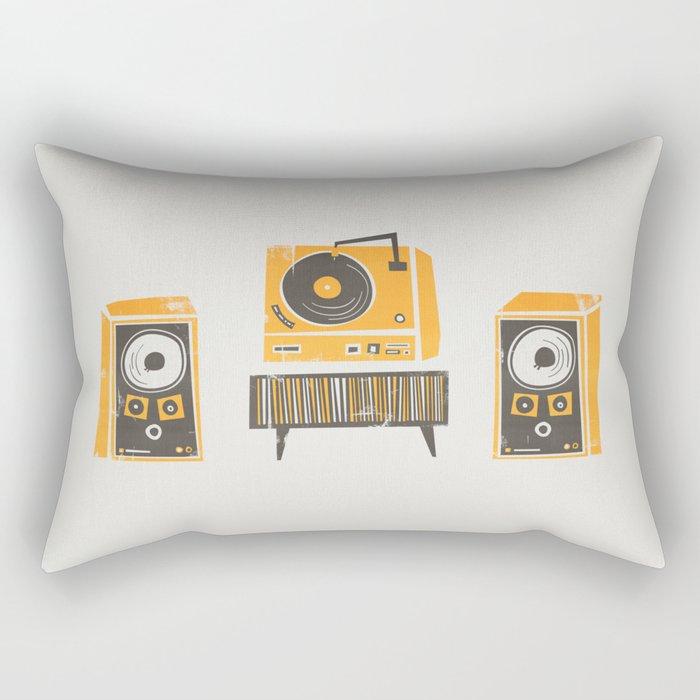 Vinyl Deck And Speakers Rectangular Pillow