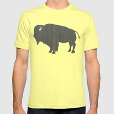Buffalo Silhouette Lemon LARGE Mens Fitted Tee