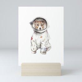 Laika Dog Watercolor Illustration Space Pup Mini Art Print