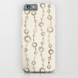 Enso Circle - Zen pattern pastel gold iPhone Case