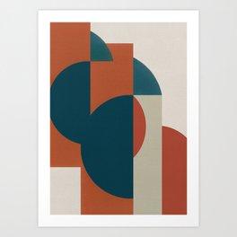 Geometric Roots 1 Art Print