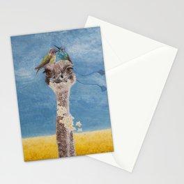 Olivia: My Dainty Ostrich Stationery Cards