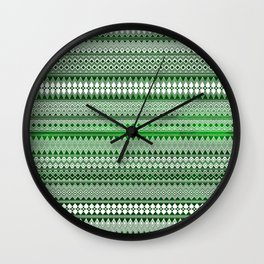 Tribality Green Texture Wall Clock