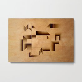cubist invader. Metal Print
