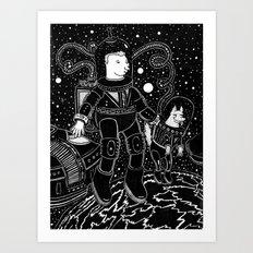 nostalgia espacial Art Print